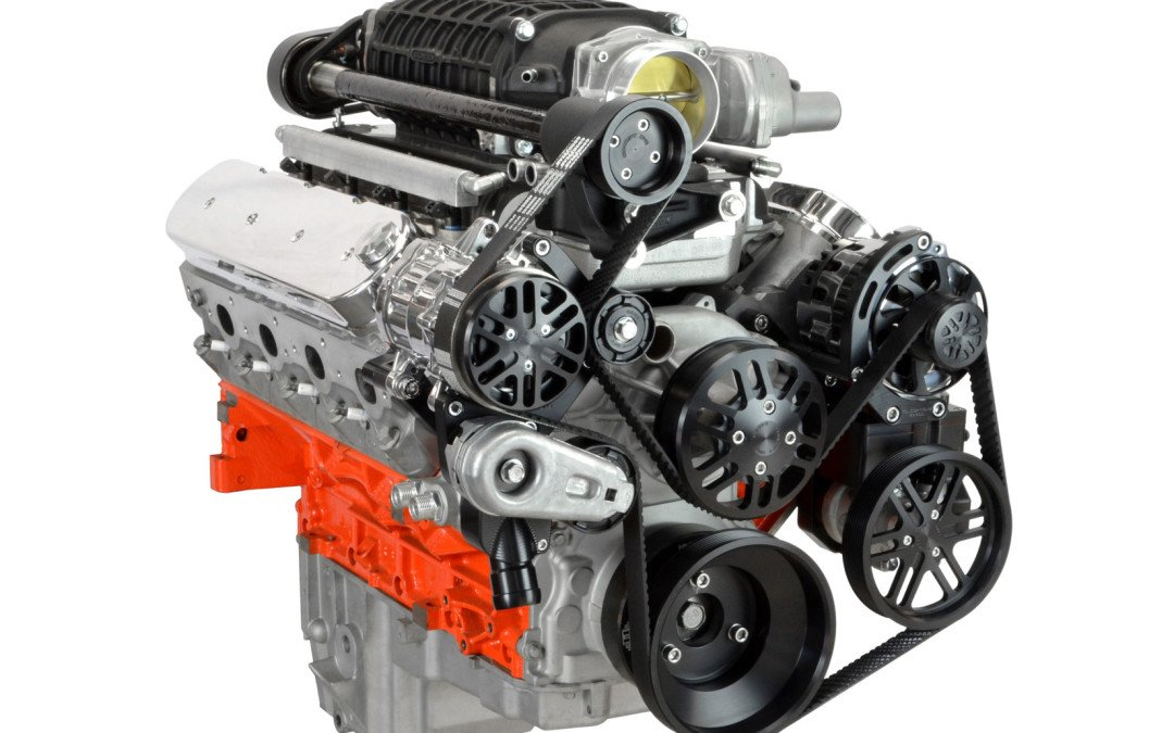 First belt system for LS engines with Magnuson or Edelbrock superchargers
