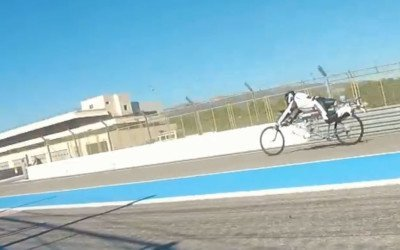 Quarter-mile world record for drag bicycle: 207mph in fewer than 4.8 seconds