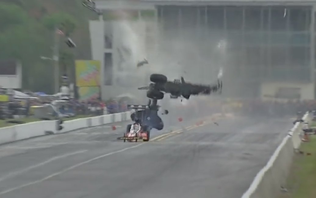 Dixon survived massive Top Fuel shunt
