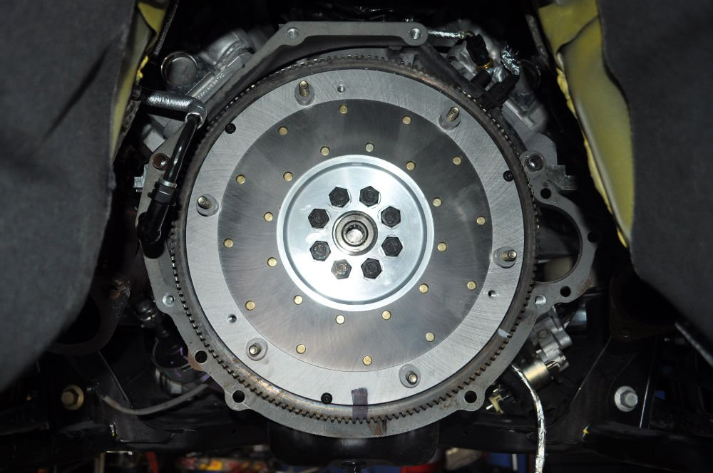 This SFI certified billet aluminum flywheel is light and thus accelerates and decelerates faster. The steel insert that interfaces with the clutch disc is 1/4in thick. Hence it dissipates clutch heat without distortion.