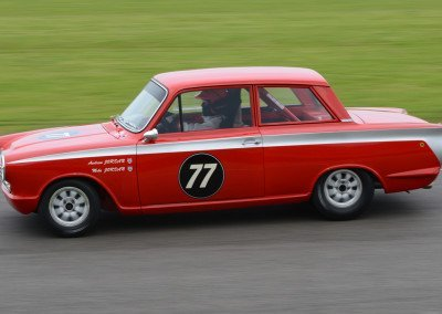 Andrew & Mike Jordan claimed third place in their 1558cc 1963 Lotus Ford Cortina MK1.
