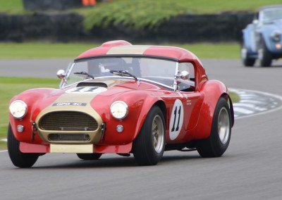 Grahame Bryant's Cobra recorded an average race speed of 97.85mph
