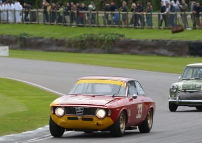 The Stippler/Furiani 1965 Alfa Romeo 1600 GTA took 4th place honors in the 30-car race.