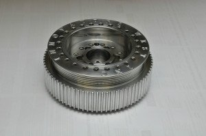 The three most common types of harmonic dampers are identified as elastomer or clutch or fluid. This competition clutch-style damper uses an aluminum case, cover and hub for low reciprocating weight.
