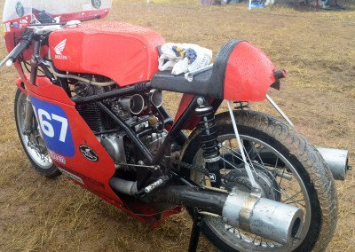 Honda 350 with Drixton frame: When in pristine condition, never a more evocative image graced the race track.