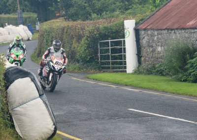 "Sheilds followed by racing rival the ""Mullingar Missile"" Derek McGee, who remained in close pursuit throughout Race1"