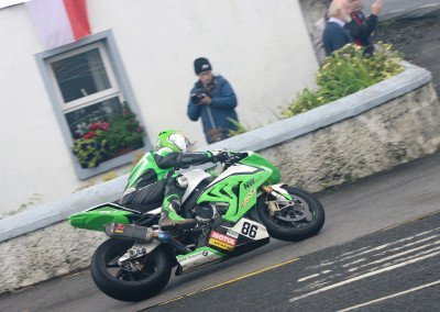 McGee, who earned his maiden victory on the international stage in the Super Twin class at Dundrod last August, finished a fine third.