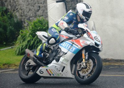William Dunlop (31), Michael's brother & nephew of legendary TT racer Joey Dunlop, claims fourth place in Race 1.