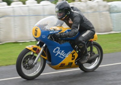 Newtownabbey's Gary Jamison onboard his beautifully preserved 500cc Honda.