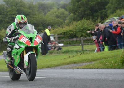 Celebrating his 30th birhday, Derek McGee won the 650 Supertwin race, finished third in the Open event & fourth in the Final
