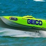 Kaase goes off-shore with Miss Geico.