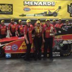 Joe Hornick provides technical aid to three top finishers at NHRA Topeka