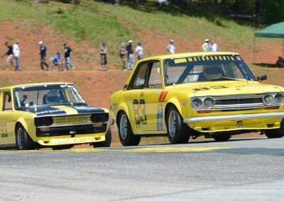 DSC_1343: Race-long Datsun 510 battle, Alex Moya  (83), 2L, &  David Stone, 1.8L