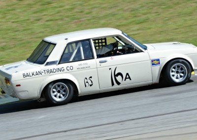 DSC_1614: Daniel Caggiano, Argentina - Datsun 510, 3rd  in Nissan Feature race, 1:46.9